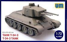 UM-MT Models 1/72 Soviet T-34-3 TANK