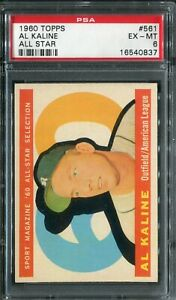 1960 Topps #561 Al Kaline All Star PSA 6 EX-MT