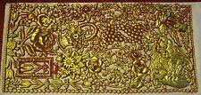 Kerzenkunst Wachsplatte Wachsornamente Weihnachten rot-gold 33 x 16 Jittenmeier