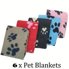 More details for value pack of 6 pet dog cat puppy fleece blankets pet blanket
