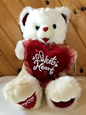 "Dan Dee Sweetheart Teddy Bear Plush White 2008 Valentine 20"" Stuffed Animal"