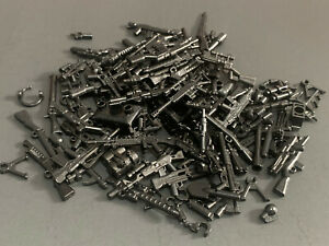 100 PCS WEAPON PACK - Assorted Lot of Weapons Guns, Rifles for Lego Minifigure