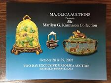 Majolica Auctions Presents the Marilyn G. Karmason Collection: October 2005