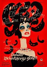 SUNSET BLVD. 1950 Polish - Billy Wilder - Classic Movie Cinema Poster Art Print