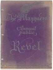 Vintage 1931 The Masquers Annual Public Revel Souvenir Program Henry Clive Art