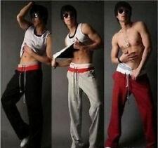 Trendy Men's Boys Guys Sports Casual Pants Loose Trouser Slack Large Spring Belt