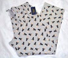 POLO RALPH LAUREN TUXEDO BEAR W/MARTINI PAJAMA PJS PANTS SIZE L GRAY NWT