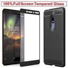 Nokia 3.1 Plus Case Armor Cover + Tempered Glass Screen Protector For Nokia 3.1+