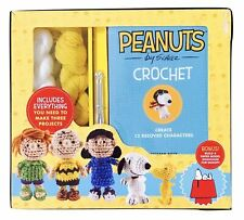 Peanuts by Schultz Crochet Kit, Makes 3 Characters/Patterns for 12 - New in Box