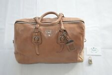 Prada Cervo Lux Leather Nudo Nude Tote Padlock Shopper Zip Top Bowler Handbag