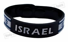Israel flag Silicone Wristband soft Rubber Bracelet souvenir Bangle holy gift