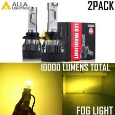 AllaLighting 10000LM LED 9145 Fog Light Bulb Driving Lamp Golden Yellow Foglight