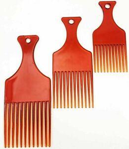 AFRO COMB JUMBO HANDGRIP HAIRCOMBS PLASTIC BROWN COMB PACK 1