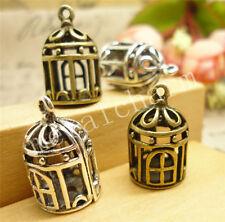 4/20/100pcs Lot Tibetan Silver DIY 3D Cage Jewelry Charm Pendant 20x12mm A907M