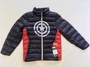 NWT Spyder Marvel Prymo Synthetic Down Jacket Captain America Kid Size M 10-12