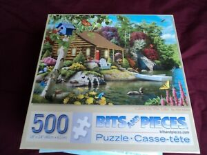 """Bits And Pieces Cabin On The Lake Jigsaw Puzzle 18""""×24""""(46cm×61cm) 500pc"""