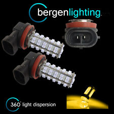 2X H11 GIALLO 60 LED ANTERIORE LAMPADINE PER FARI FENDINEBBIA SUPPLEMENTARI
