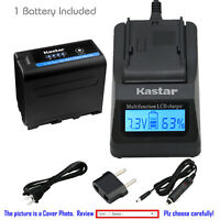 Kastar Battery LCD Charger for Sony NP-F970PRO CCD-TRV62 CCD-TRV65 CCD-TRV66