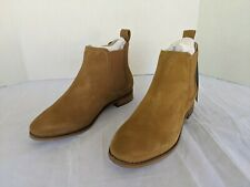 Toms Ella Booties Boots Toffee Suede Leather SIZE 7