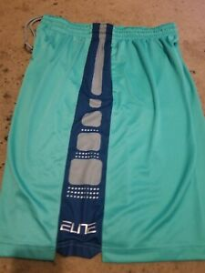 WORN ONCE TURQUOISE BASKETBALL SHORTS XXL MENS NIKE ELITE