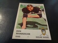 1961 Fleer Football #196 Don Manoukian - Oakland Raiders - EX-MT