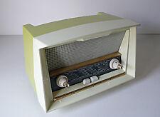 RADIO PHILIPS ANCIEN VINTAGE EN PLASTIQUE VERT ANNÉES 50 DESIGN BAUHAUS