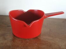 More details for copco, denmark, michael lax, a small cast-iron saucepan in bright red enamel