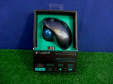 Logitech M570 Wireless USB Trackball Trackman Mouse Gray Blue Brand NEW Sealed