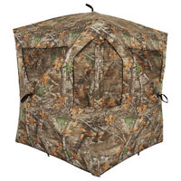 Ameristep AMEBL3013 3 Person Brickhouse Ground Hunting Blind, Mossy Oak Camo