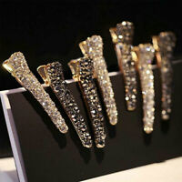 Korean Style Women Crystal Rhinestone Pearl Hair Clip Princess Hairpin Barrette