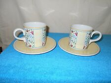 """Set Lot of 2 Villeroy & Boch """"Virginia"""" Cups & Saucers  Made in Germany Mint"""