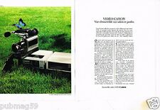 Publicité advertising 1984 (2 pages) Hi-Fi Video Camera magnetoscope VHS Canon