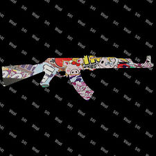 "12"" AK-47 Vinyl Decal stickerbomb Jdm illest Stance gun funny car sticker laptop"