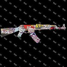 "12"" AK-47 Vinyl Decal stickerbomb Jdm illest Stance gun funny car sticker laptop"