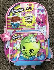 Shopkins Once You Shop You Can'T Stop School Backpack With Lunch Bag New! 16�