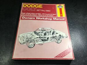1977-1980 Dodge Colt Haynes Repair Manual Plymouth Colt Mileage Maker 4G32 4G54