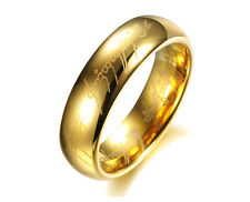 "Asma Tungsten Carbide Steel ""The Lords Of The Rings"" Gold Color Ring for men"