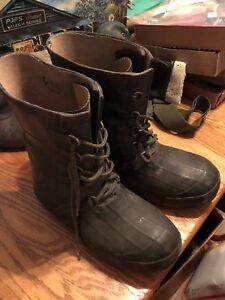 Vintage Hodgman Insulated Rubber Steel Shank Winter Fishing Boots Men's Size 9 !
