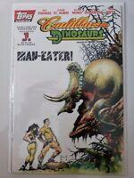 CADILLACS AND DINOSAURS: MAN-EATER! #1 (1994) TOPPS COMICS SAM KIETH COVER ART!