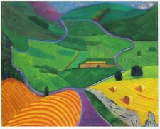 North Yorkshire David Hockney print in 11 x 14 mount ready to frame SUPERB