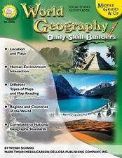 Daily Skill Builders: World Geography, Grades 6 - 12 by Wendi Silvano (2008, E-b