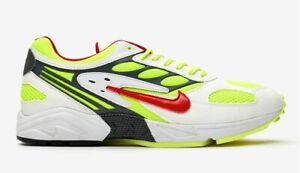 Nike AIR GHOST RACER Gr. 42,5 43 44 AT5410 100 White Red Yellow US 9 9,5 10