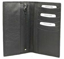 Gents Quality Traditional Tall Leather Note & Card Jacket Wallet Golunski - E11