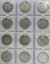 Lot 12 Silbermünzen a 25 Schilling, Österreich 1955 - 1968