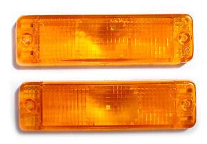 Pair of NEW Orange Amber Indicator lenses for ARB Bullbars 135x38mm Turn Signals