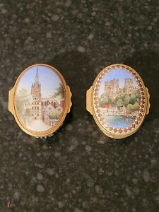 2 Halcyon Days Limited Edition Mulberry Hall Enamel Boxes