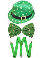 Irish Cappello Borsalino GIGANTE Papillon e Bretelle S. Patrizio Costume Vestito