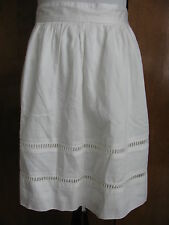 Gap women's white embroidered lined skirt 12
