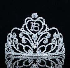Sweet 16 Sixteen Birthday Party Austrian Rhinestone Tiara Crown W/ Hair Comb T52