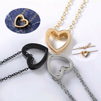Jewelry Charm Women Pendant Stainless Steel Choker Gift Chain Heart Necklace